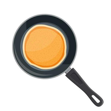 Flying pancakes and frying pan