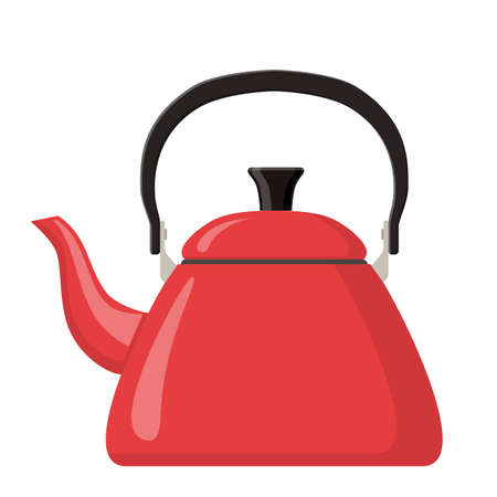 Kettle boils icon. Web page design template Poster banner website, UI, UX, web and mobile phone apps. Vector illustration in flat style. Stock fotó - 137870774