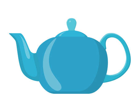 ceramic teapot, kettle icon isolated on a white background. can be used on websites, UI, UX, web and mobile phone apps. Vector illustration in flat style.
