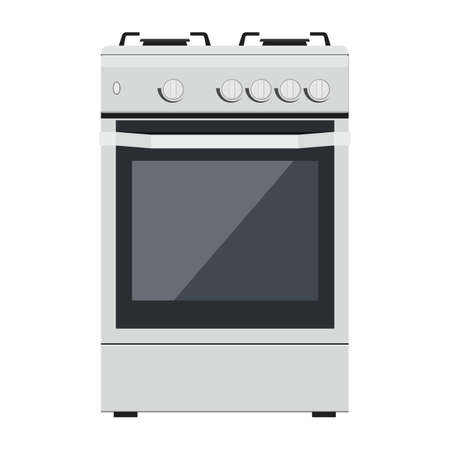 Kitchen gas stove icon. The household equipment. isolated on a white background. can be used on websites, UI, UX, web and mobile phone apps. Vector illustration in flat style.