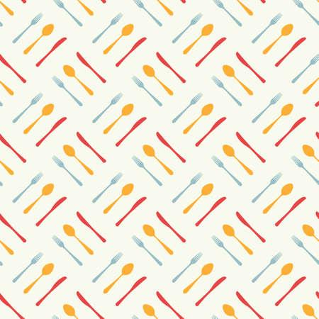 Cutlery icon seamless pattern. Ilustración de vector