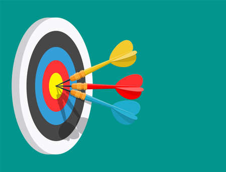 Darts target. Success Business Concept.