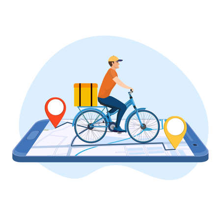 Online delivery service concept,