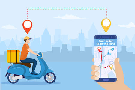 Online delivery service concept