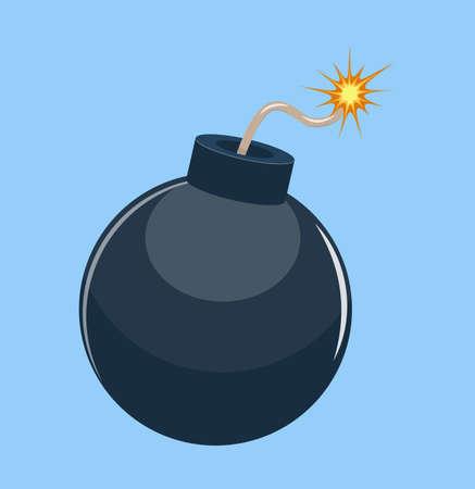 Cartoon bomb ready to explode.  イラスト・ベクター素材