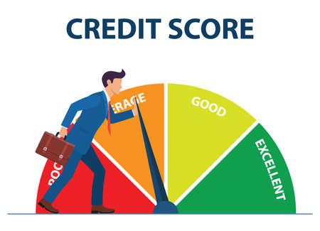 Credit score concept  イラスト・ベクター素材