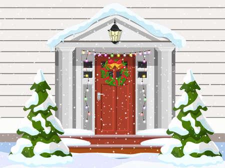 Entrance to the suburban house Illusztráció