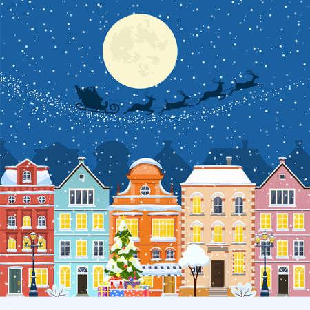 Merry Christmas and a Happy New Year Ilustración de vector