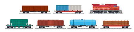 Train freight wagons,