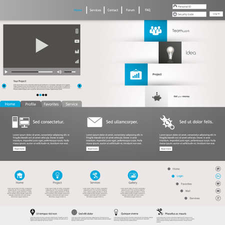 Modern design minimal style Website Template Vector