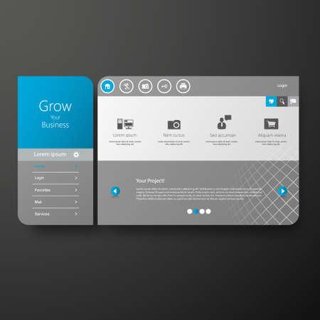 minimal: Minimal Website Template Design Illustration