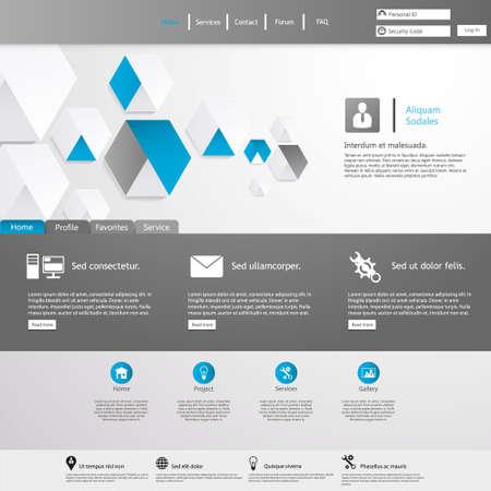 sjabloon: Schoon Website Template Stock Illustratie