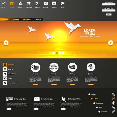 site: Web site vector design template