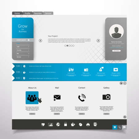 Website Template Minimal theme Vector