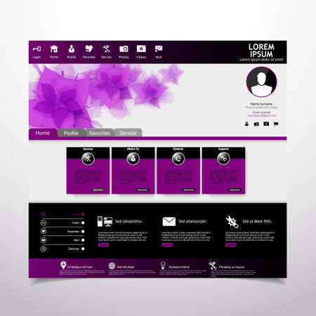 beauty salon: website template for beauties