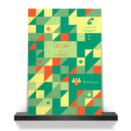 parallelepiped: Abstract, geometric backgrounds on flyer Illustration