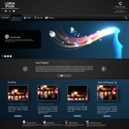 Professional Website Design Dark Template