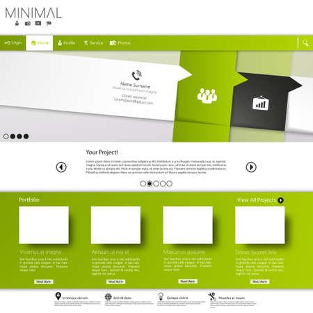 submenu: Green business website template Illustration