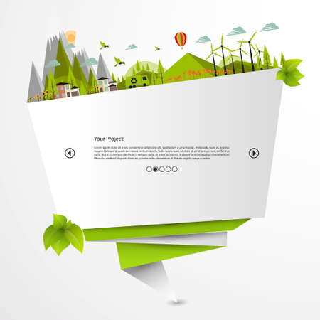Modern green eco website