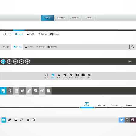 navigation bar: Web Design Menu Navigation Bar Website Header