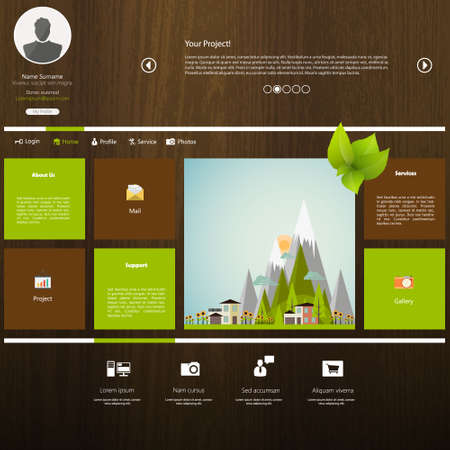 menu land: Eco Flat Metro Web Design Template.