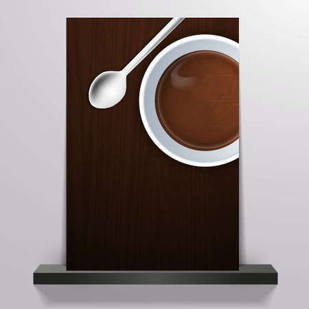 caffee: Coffee background Flyer Illustration