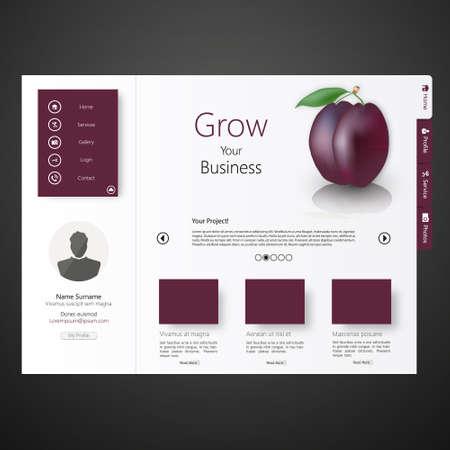 web site design template: web site template design Illustration