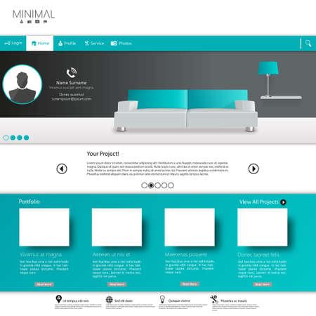 Business website template, Clean Minimalist Style Ilustração