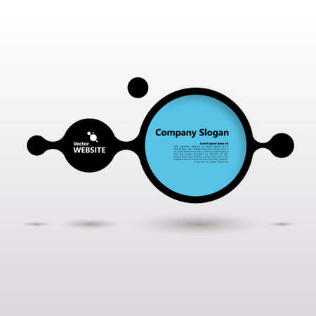 dubstep: Infographics Abstract Minimal paint splash design bubble with your text Eps 10 vector illustration Illustration