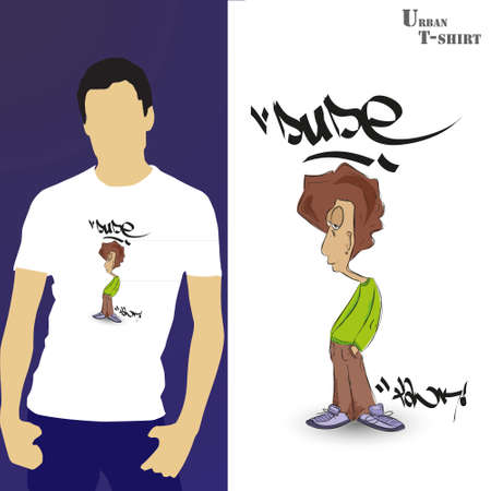 disfrazados: Camiseta dise�o Graffiti tipo