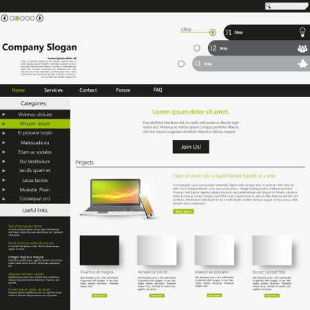 Professional Website Template in editable vector format Vector