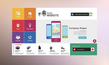 Flat Web Design Templates for website.