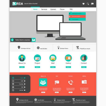 website banner: Modern flat website template design Eps 10