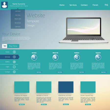website template: Clean Modern Website template in editable vector format