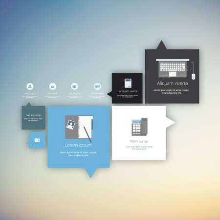 Vector flat user interface (UI) infographic template  design Vector