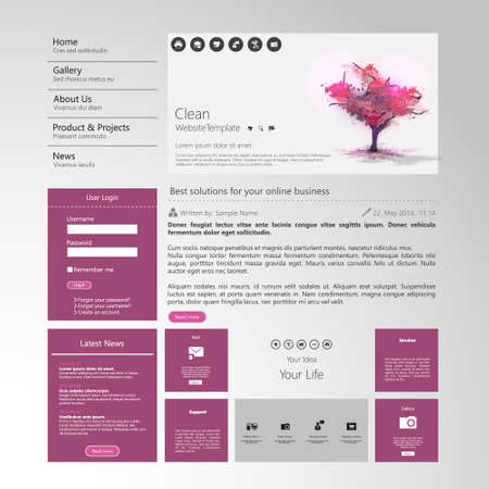 website button: Website ElementsTemplate Design for Your Business Site