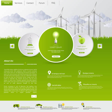 wind energy: Wind Energy Eco Website Template