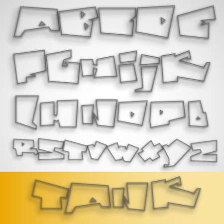 graphiti: Transparent Graffiti font alphabet