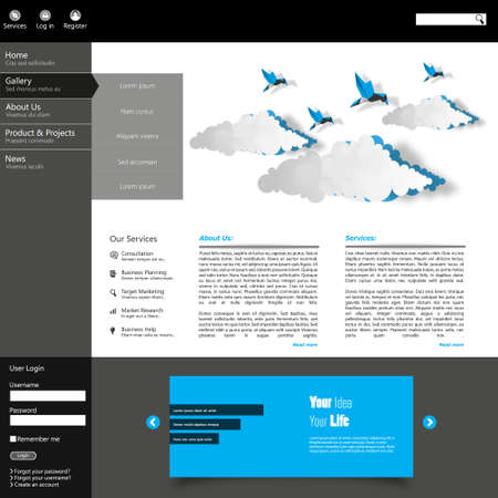 webtemplate: Web site design template