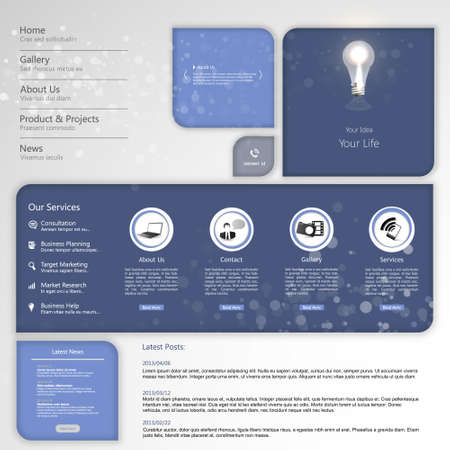 it is interesting: Design of the menu for a website. Creative web design Illustration