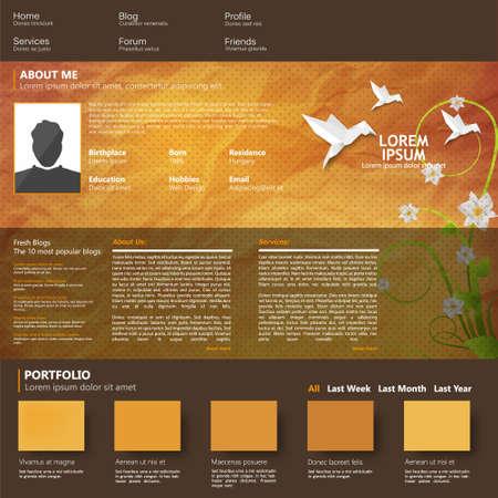 web site design template: Vector web site design template Illustration