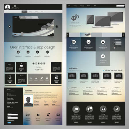 web site design template: Great Website elements pack #1