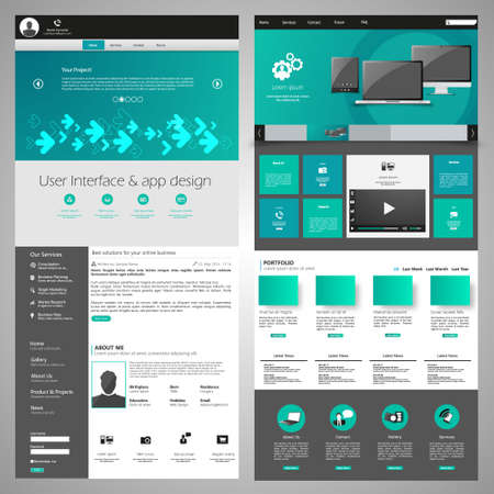 blog icon: Great Website elements pack #3 Illustration