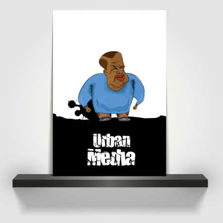 uptown: Flyer or cover Design black hiphop character Illustration