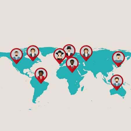 Abstract world map with tags points and destinations vector flat world map with tags points and destinations with flat faces avatar vector gumiabroncs Image collections