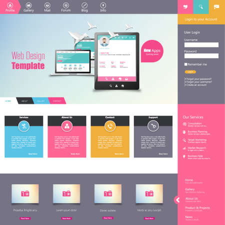 web site design template: website template for smart phone company