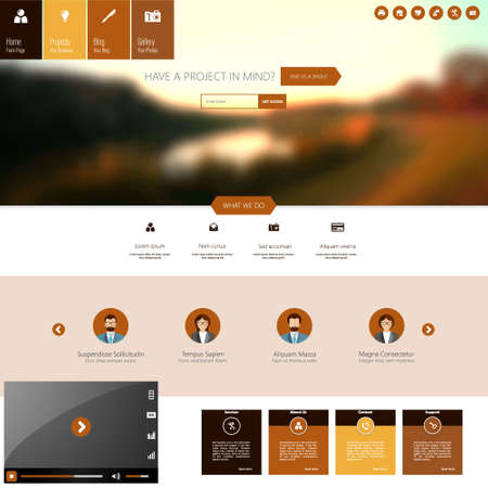 website backgrounds: Website Template with Blurred Backgrounds