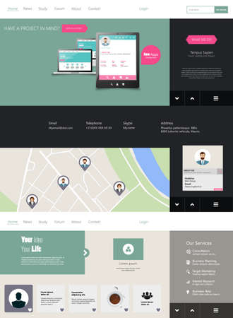 drop down: Drop Down Flat Website Template
