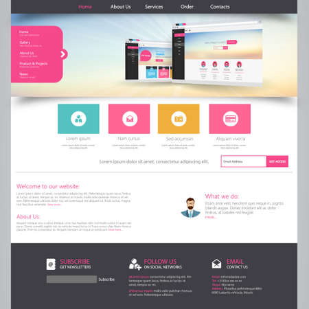 web site design: Template for website