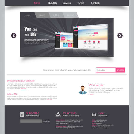 Template for website Vector
